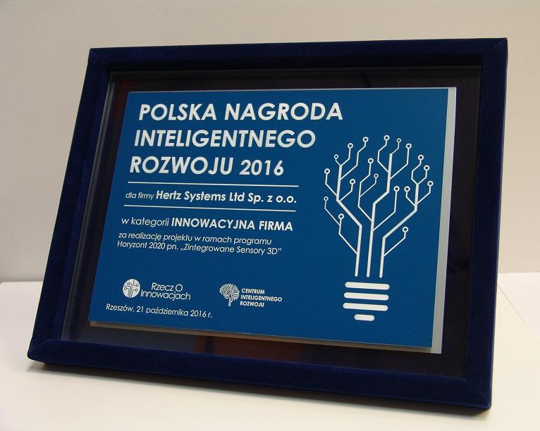 Polska Nagroda Inteligentnego Rozwoju 2016 dla Hertz Systems